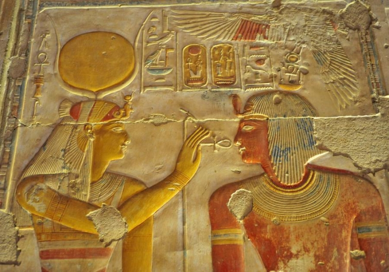 Pharaonic inscriptions at Temple of Abydos