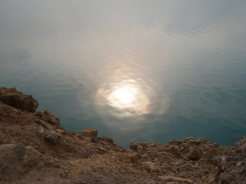 Raggi del Sole Sulle Acque del Mar Morto