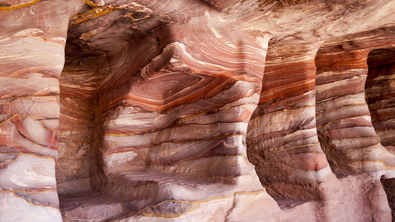 Red Colour Rock Formation in Petra