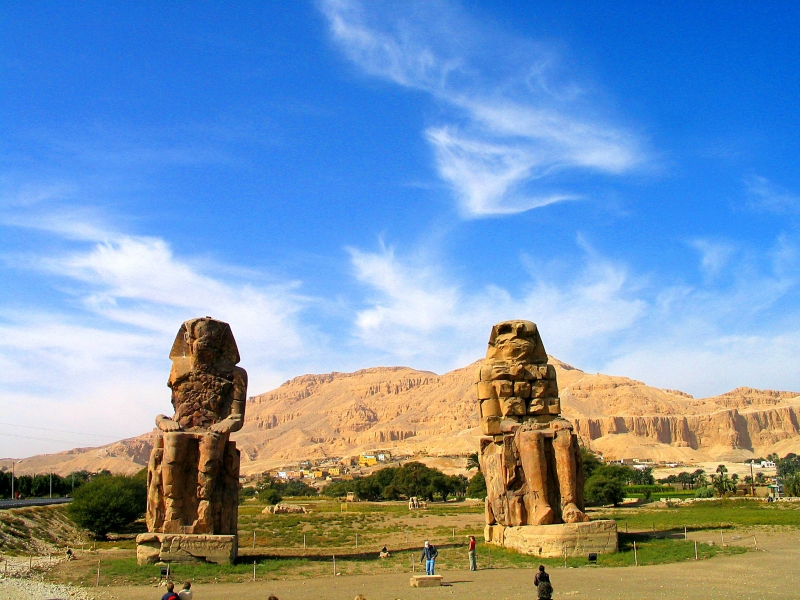 The Two Colossal of Memnon in Luxor