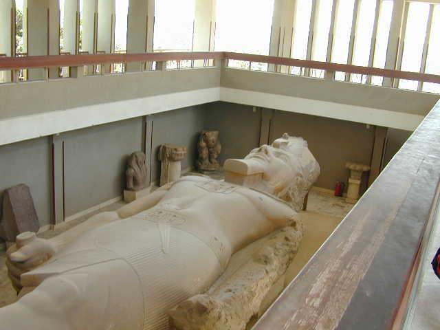 La estatua de Ramsess en Memphis