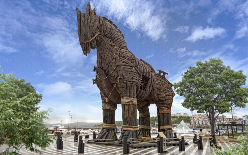 Trojan Horse in Troy, Turkey