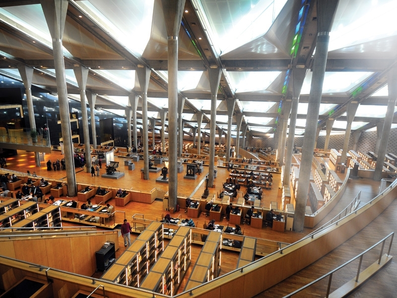 Inside Alexandria Library