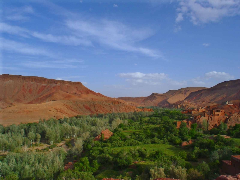 Amazing landscapes of Valley of Dades
