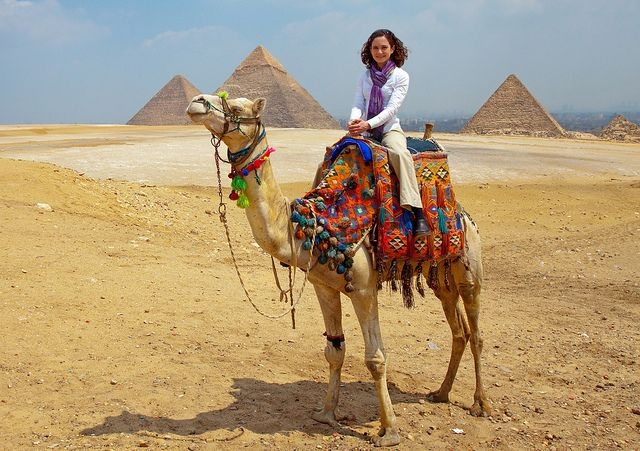 Camel rides around Pyramids