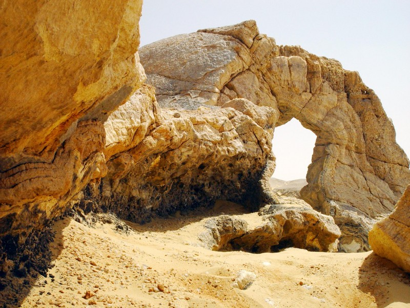 The Crystal Mountain in the north of Egypt's White Desert.