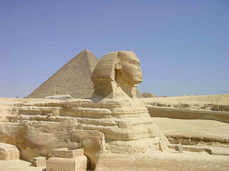 Sphinx, Nécropole de Gizeh