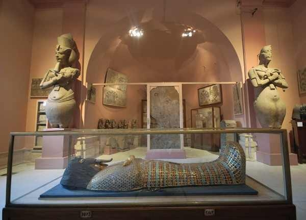 Coffin inside the Egyptian Museum