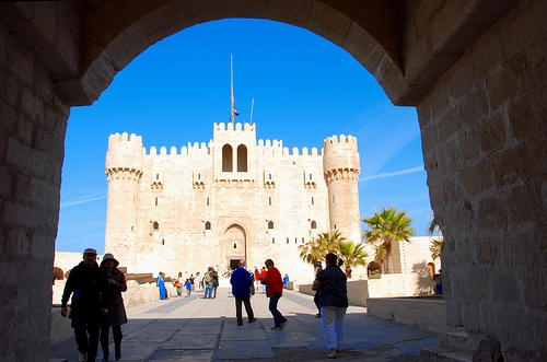 Qaitbey Fortress in Alexandria, Egypt