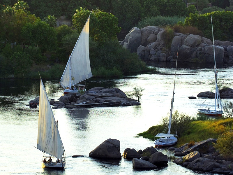 The Beautiful View of the Nile in Aswan