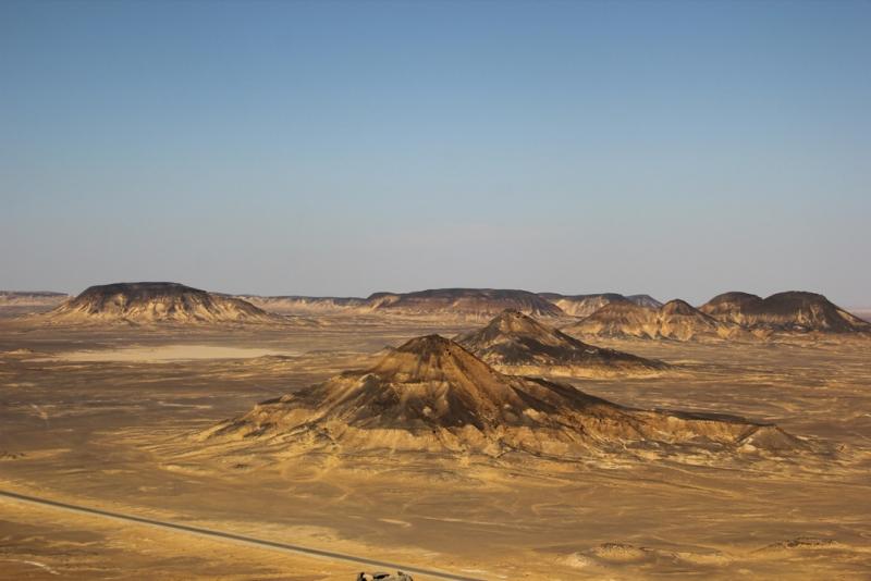 The Black Desert in Western Desert of Egypt