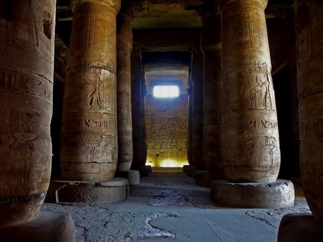 El Templo de Abydos por dentro.