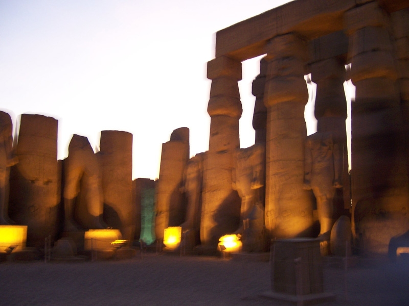 Luxor Temple Courtyard at Night