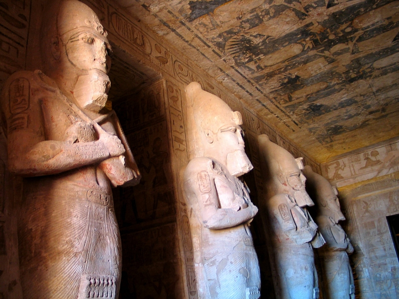 Pharaonic Statues in Abu Simbel Temple