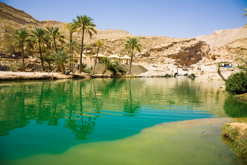 Clear Water in Wadi Bani Kahlid
