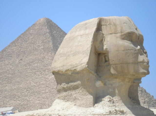 Close-Up of the Famous Sphinx