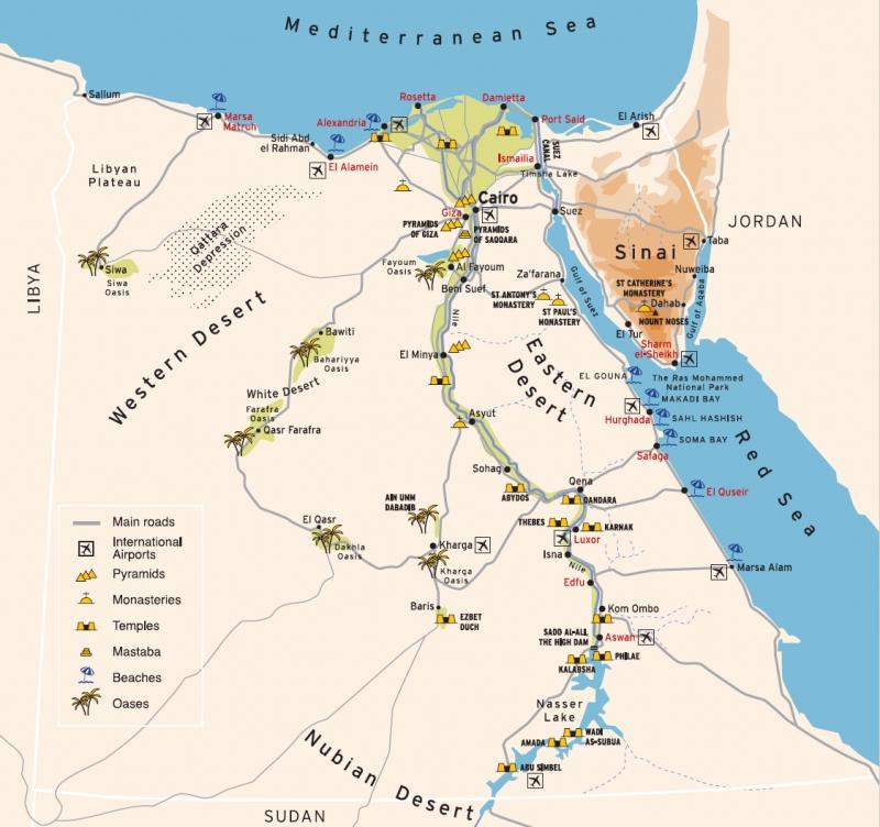 Égypte - Cartes du pays