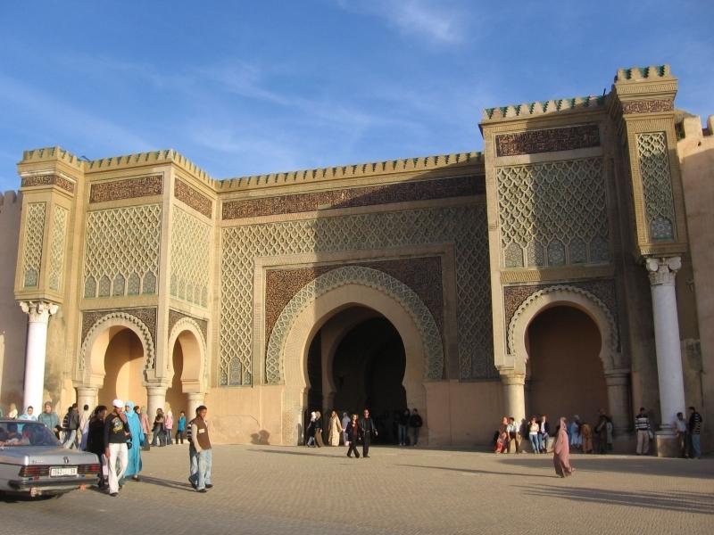 王都の入口に建つマンスール門、メクネス