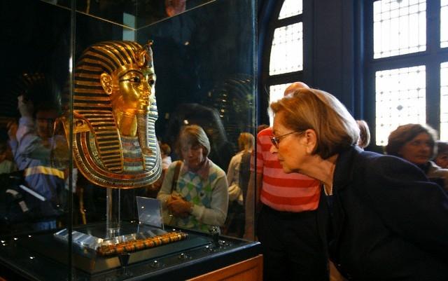图坦卡蒙黄金面具,埃及博物馆