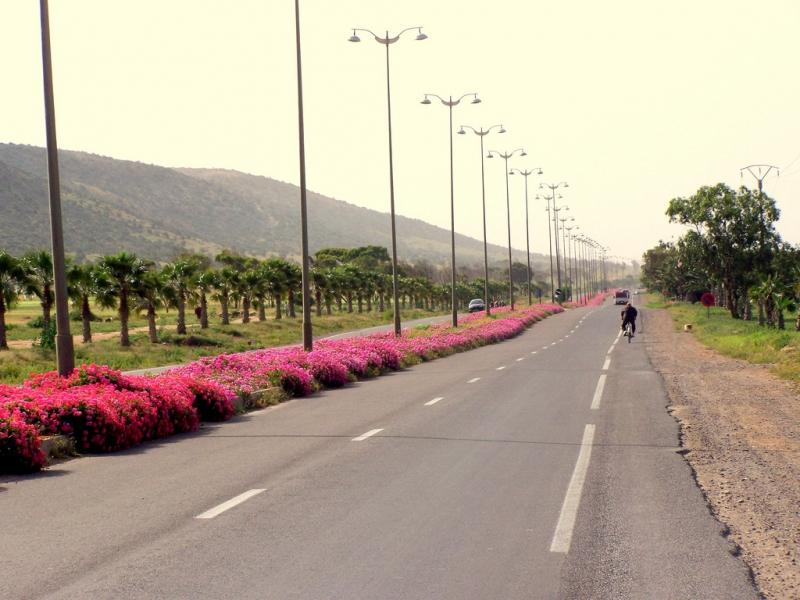 The streets in agadir