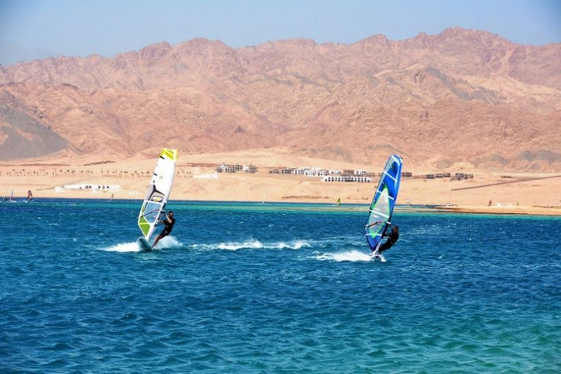 Windsurfing at Sharm El Sheikh, Egypt