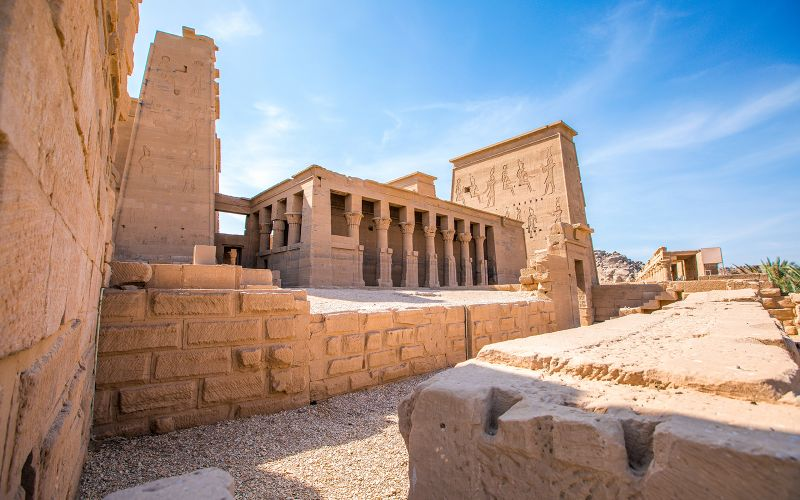 The majestic Philae temple of Aswan