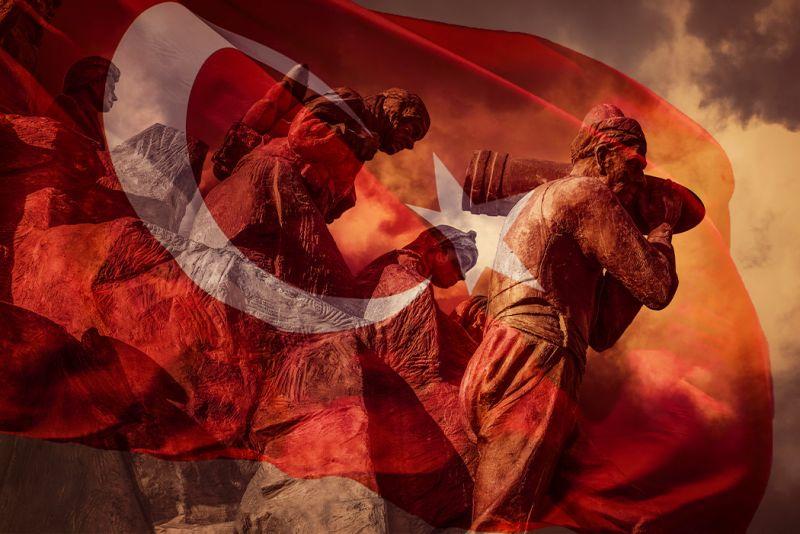 A bandeira da Turquia