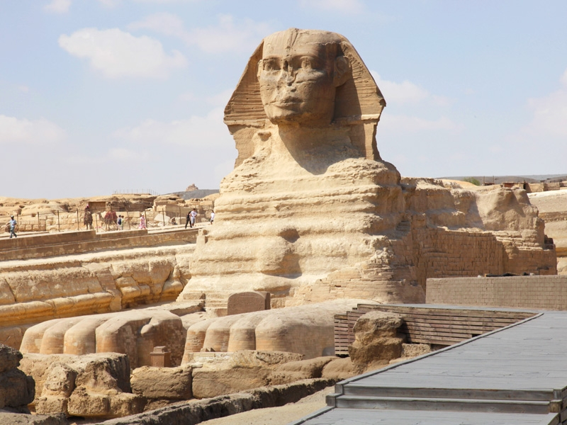 The Great Sphinx in Giza Nercropolis