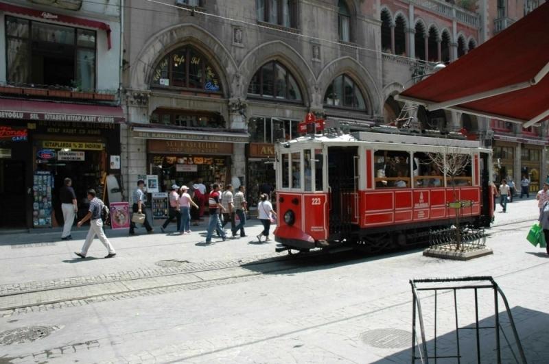 Tranvía en Galata