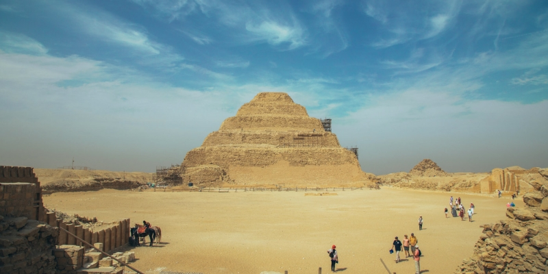 Who built the first pyramid in Egypt