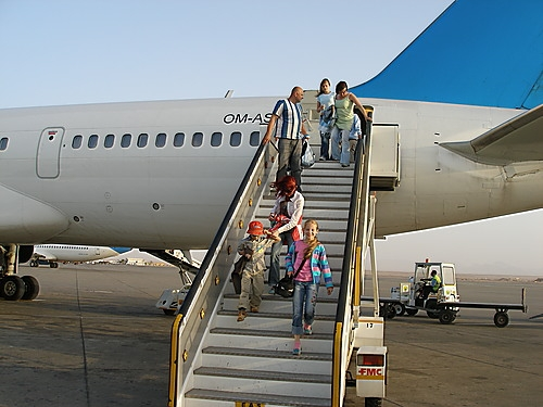 Airplane in Sharm El Sheikh Airport