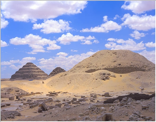 North Side of Sakkara - Teti Pyramids in Sakkara