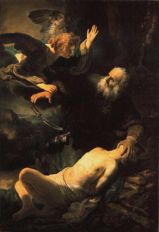 Sacrificio de Isaac, sendo que pela religiao Islamica seria o sacrificio de Ismail