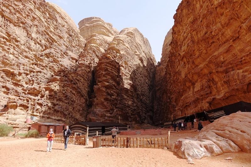 Camp in Wadi Rum