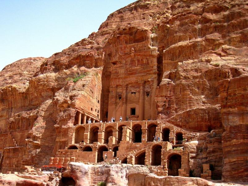 Urn tomb in Petra, Jordan