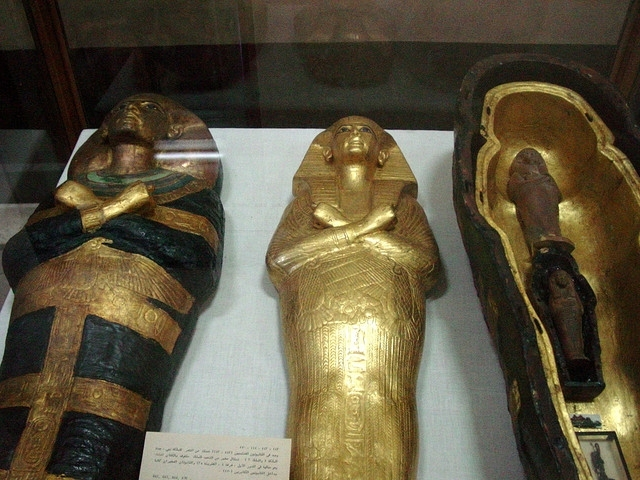 Shabit and Hair Lock of Queen Tiye Mother of Tutankhamun