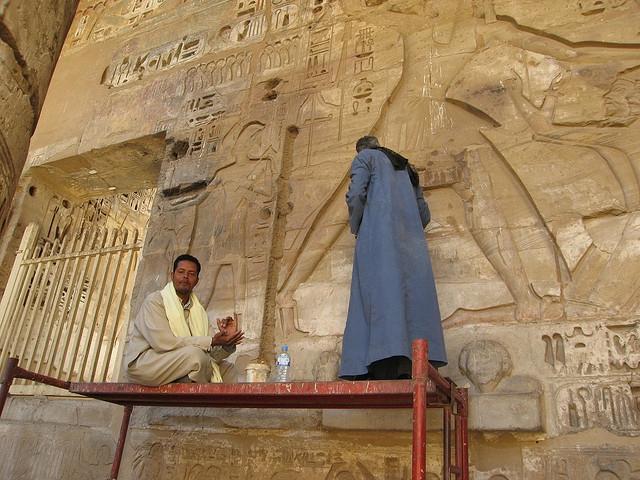 A Guard at Madinet Habu Temple