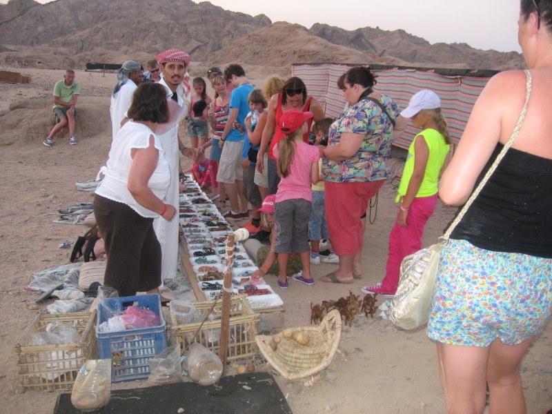 Local Bazaar selling Souvenirs in The Desert