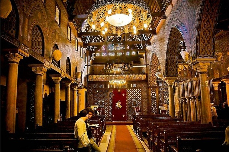 Inside the Hanging Church at Cairo, Egypt