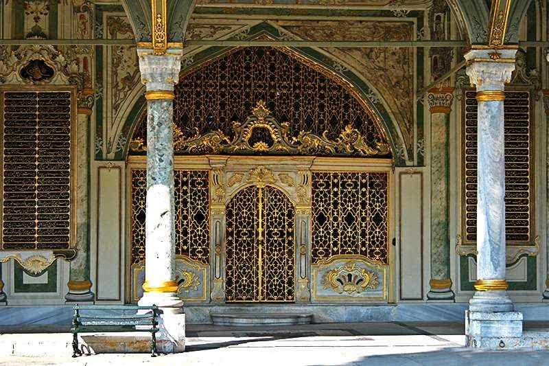 Abaque et ornements en or du Palais du Topkapi