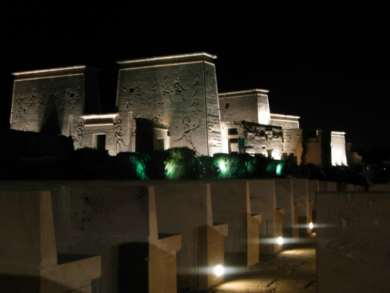 Philae Sound and Light show at Night