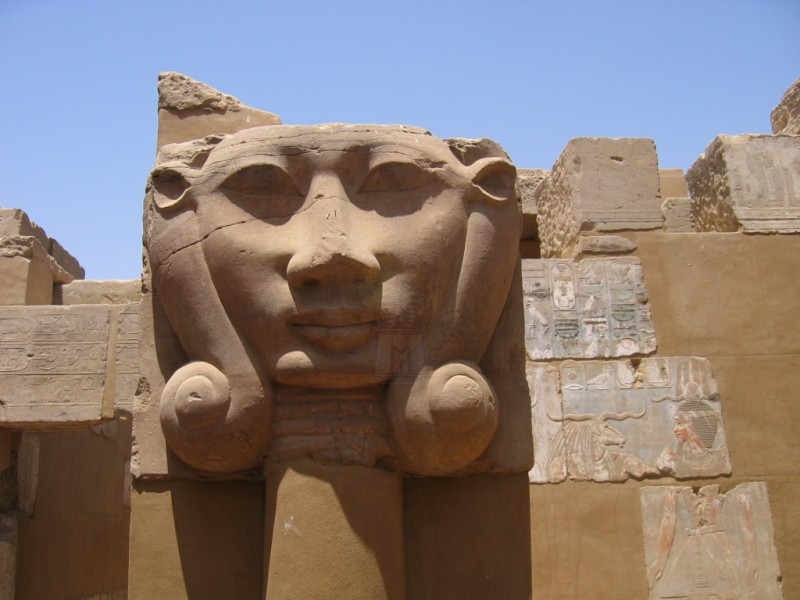 Face of Goddess Hathor