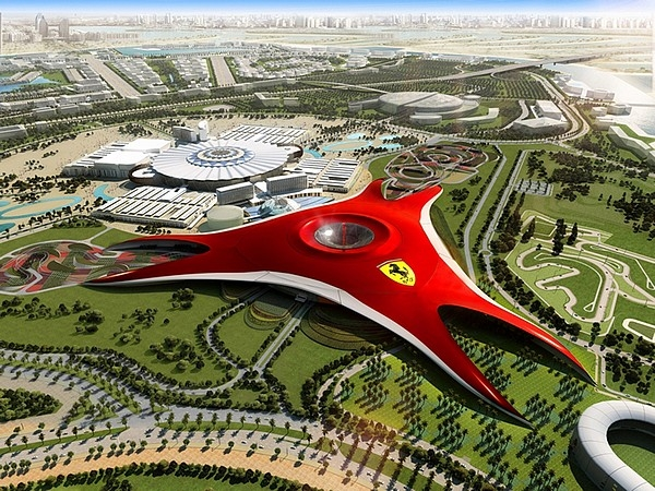 Panoramic View of Ferrari World