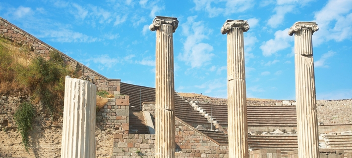 Asclepeion Ancient City in Pergamon of Turkey