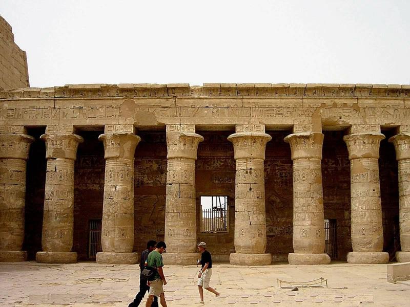 Columns of Habu Temple, Luxor