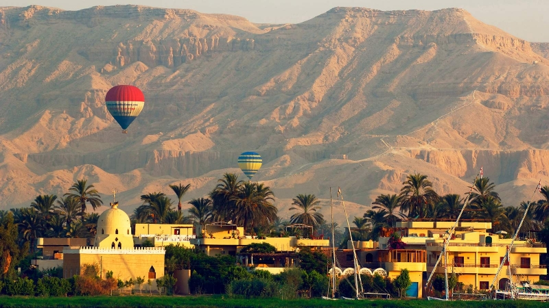 Balloon Ride over Luxor West Bank