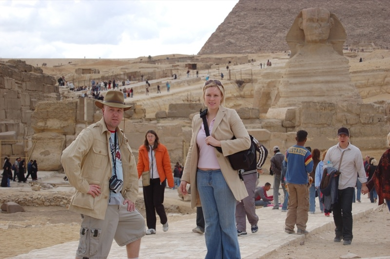Enjoying the Great Sphinx