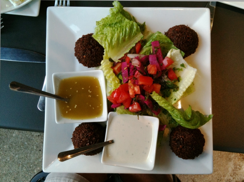 Falafel Plate with Various Salads