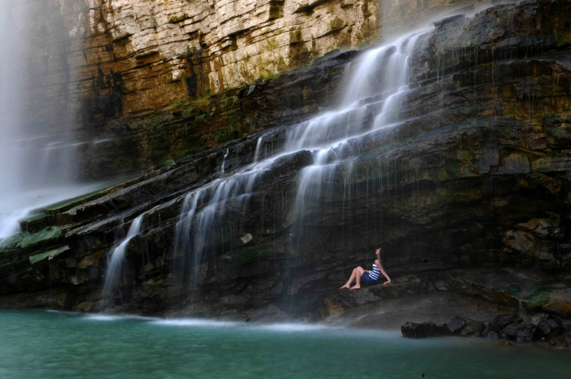 Tortum Waterfall in Turkey