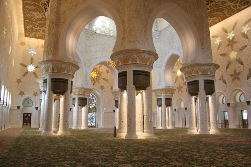 シェイク・ザイード・グランド・モスクのホール